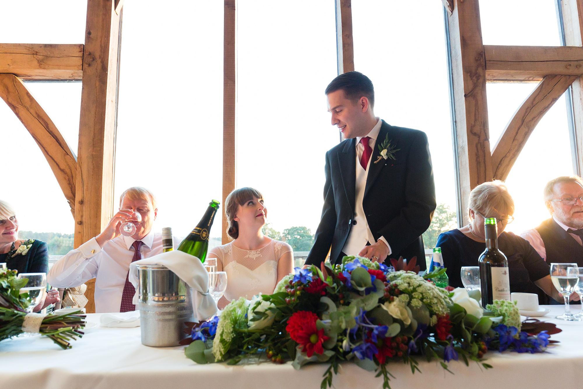 Sandburn Hall Wedding Photography groom's speech