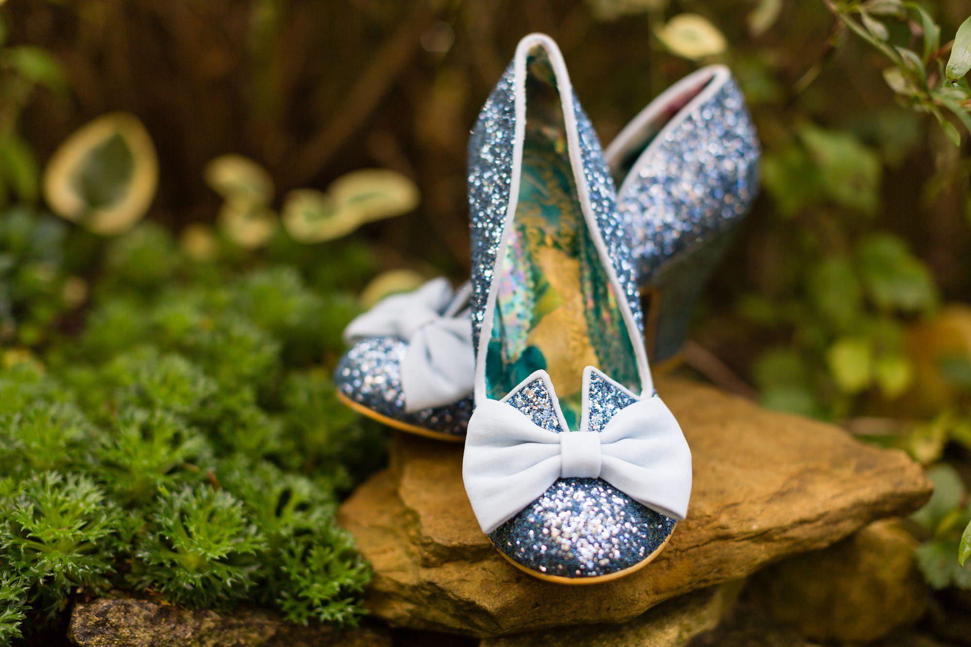 Blue irregular choice wedding shoes Yorkshire Wedding Photography