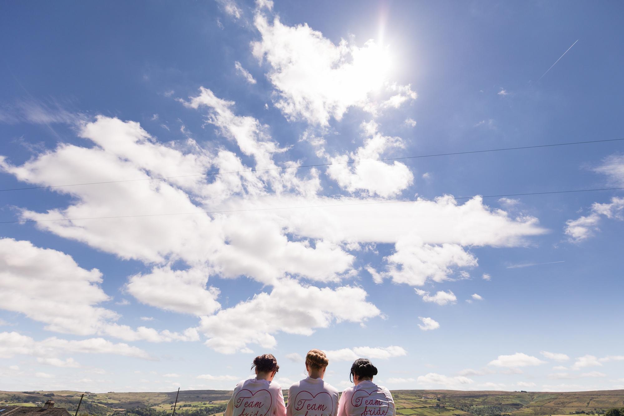 Bridesmaids in the sun