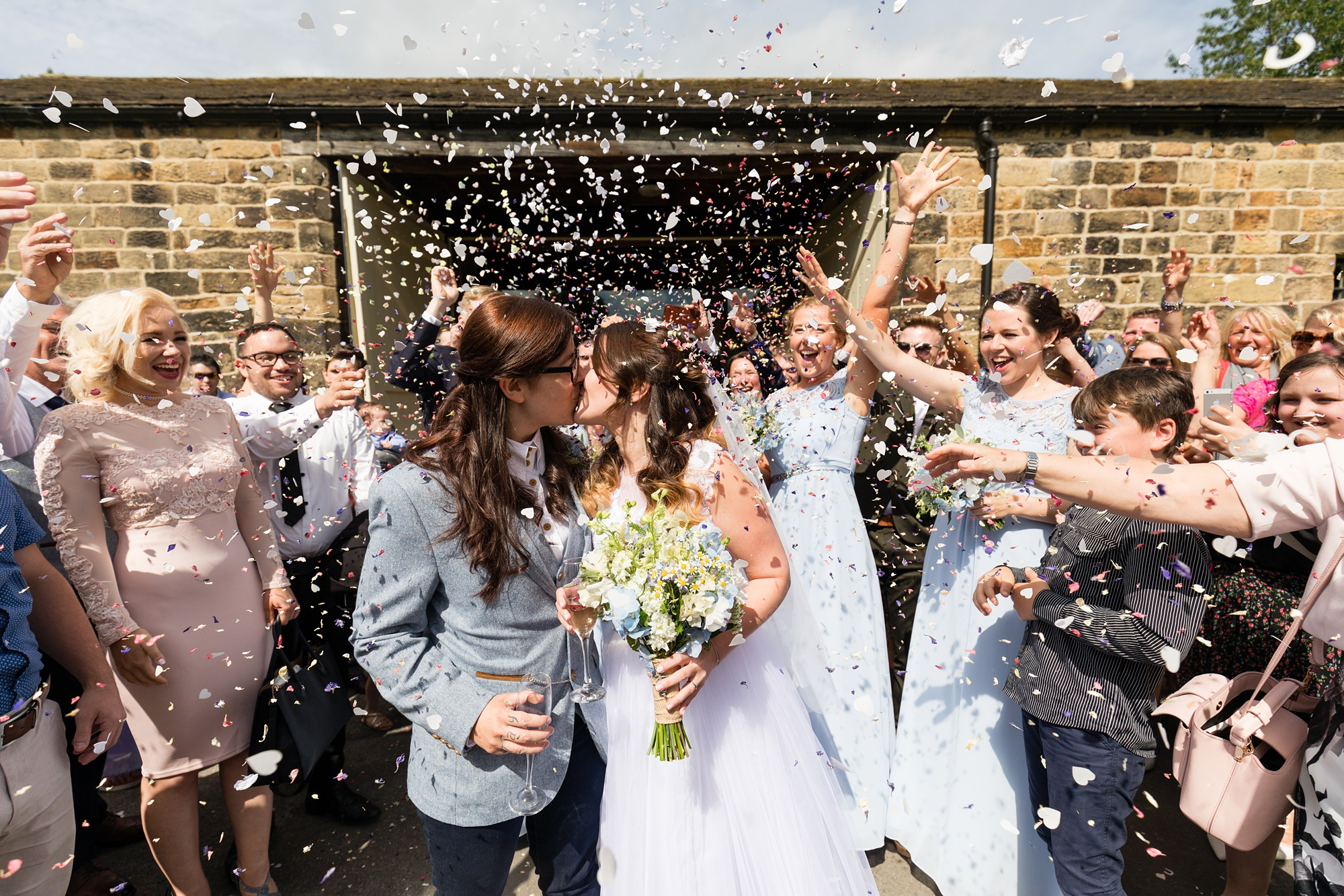 East Riddlesden Hall Wedding Photography confetti