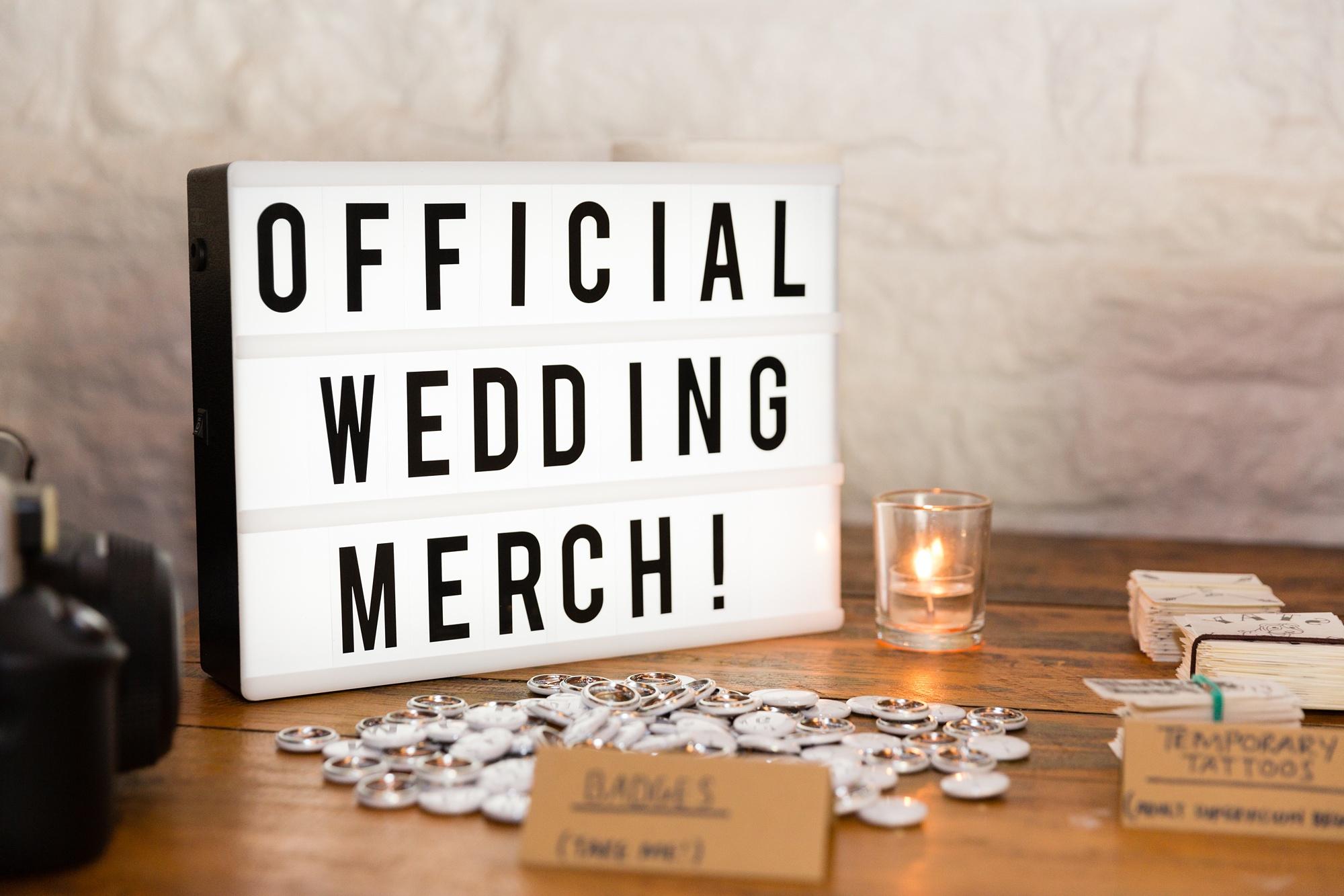 Official wedding merch