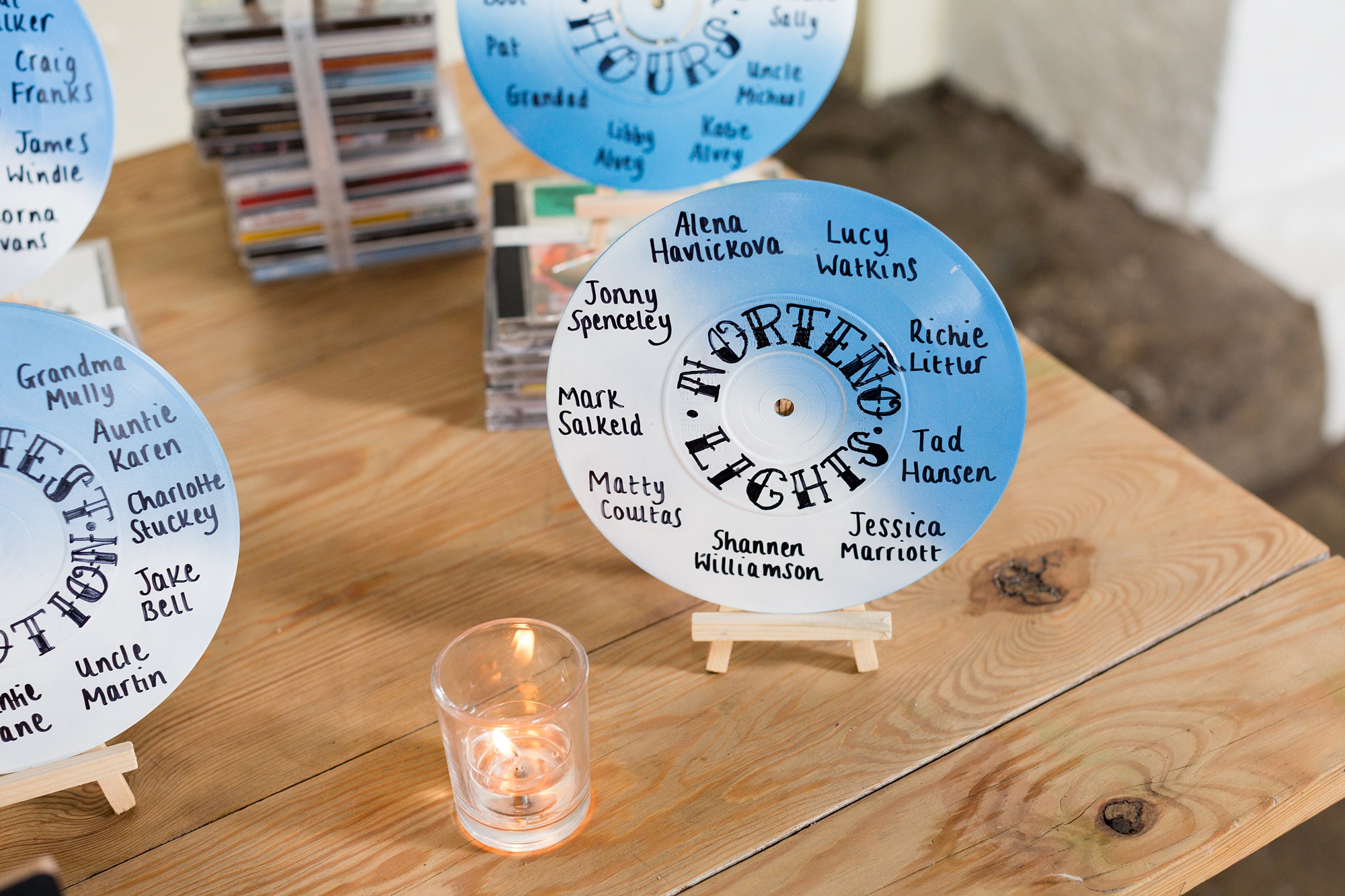 Record table plans at wedding