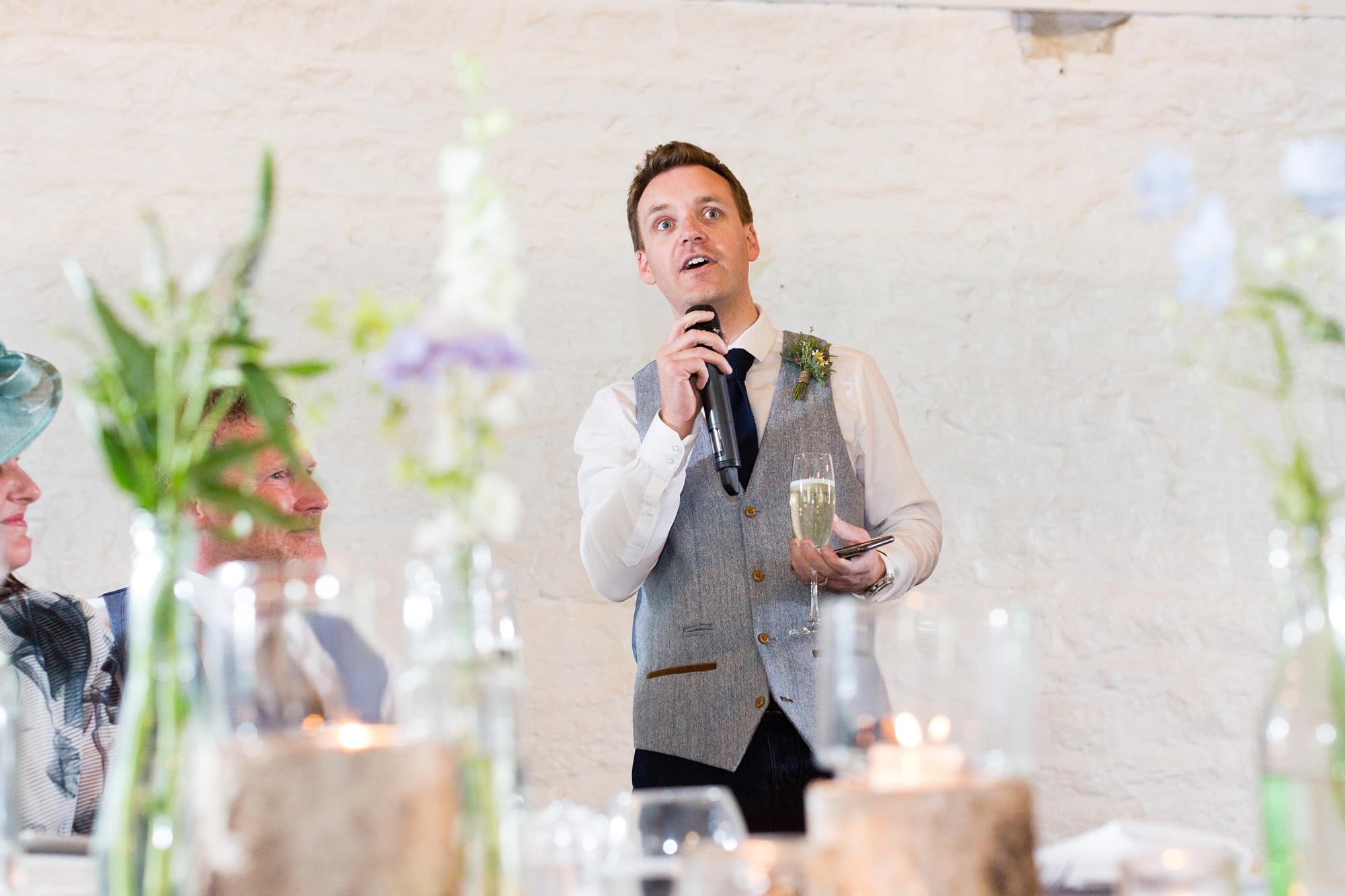Wedding speeches at East Riddesden Hall