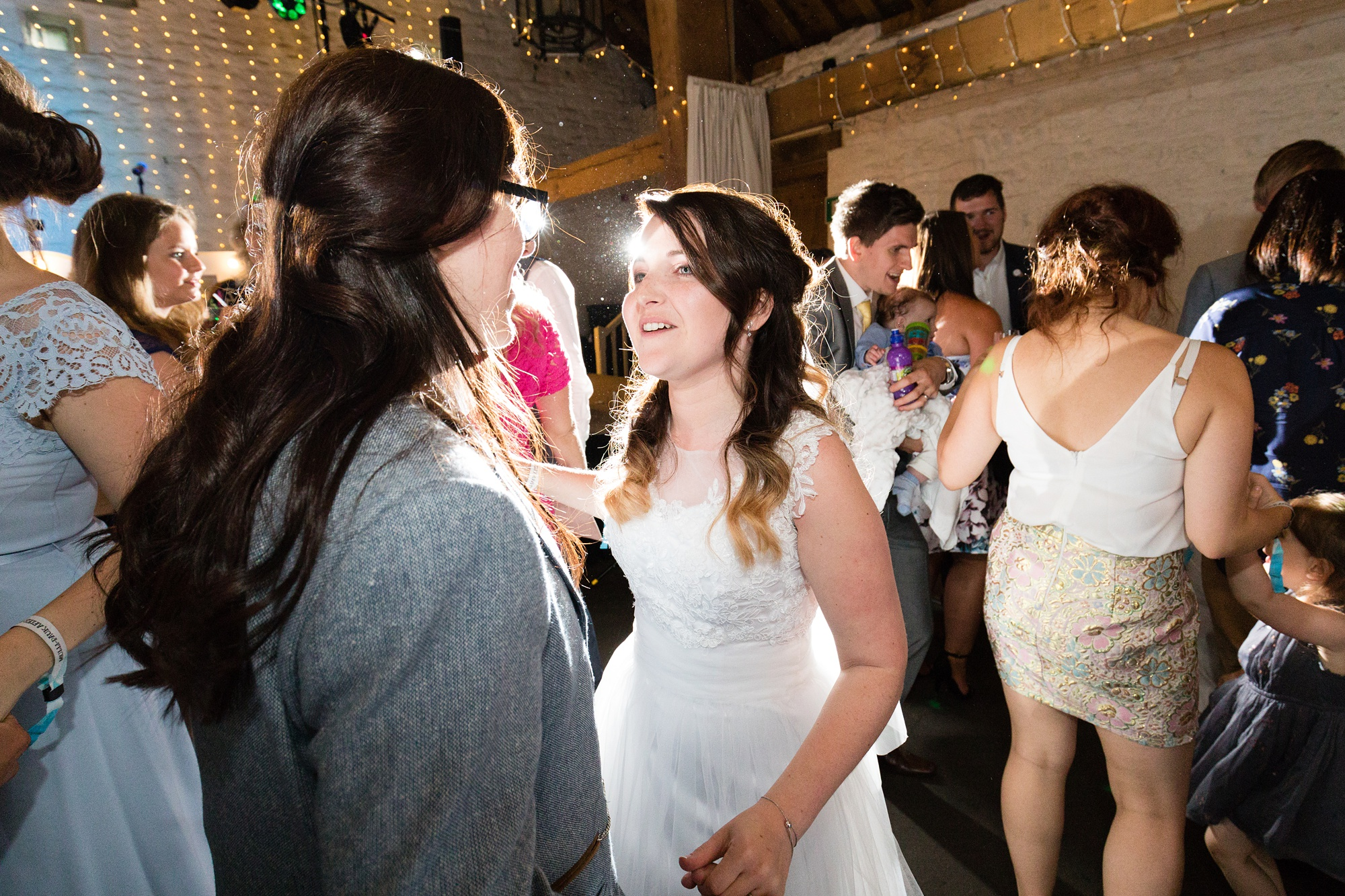 Brides Dancing together at ERH East Riddlesden Hall Wedding Photography