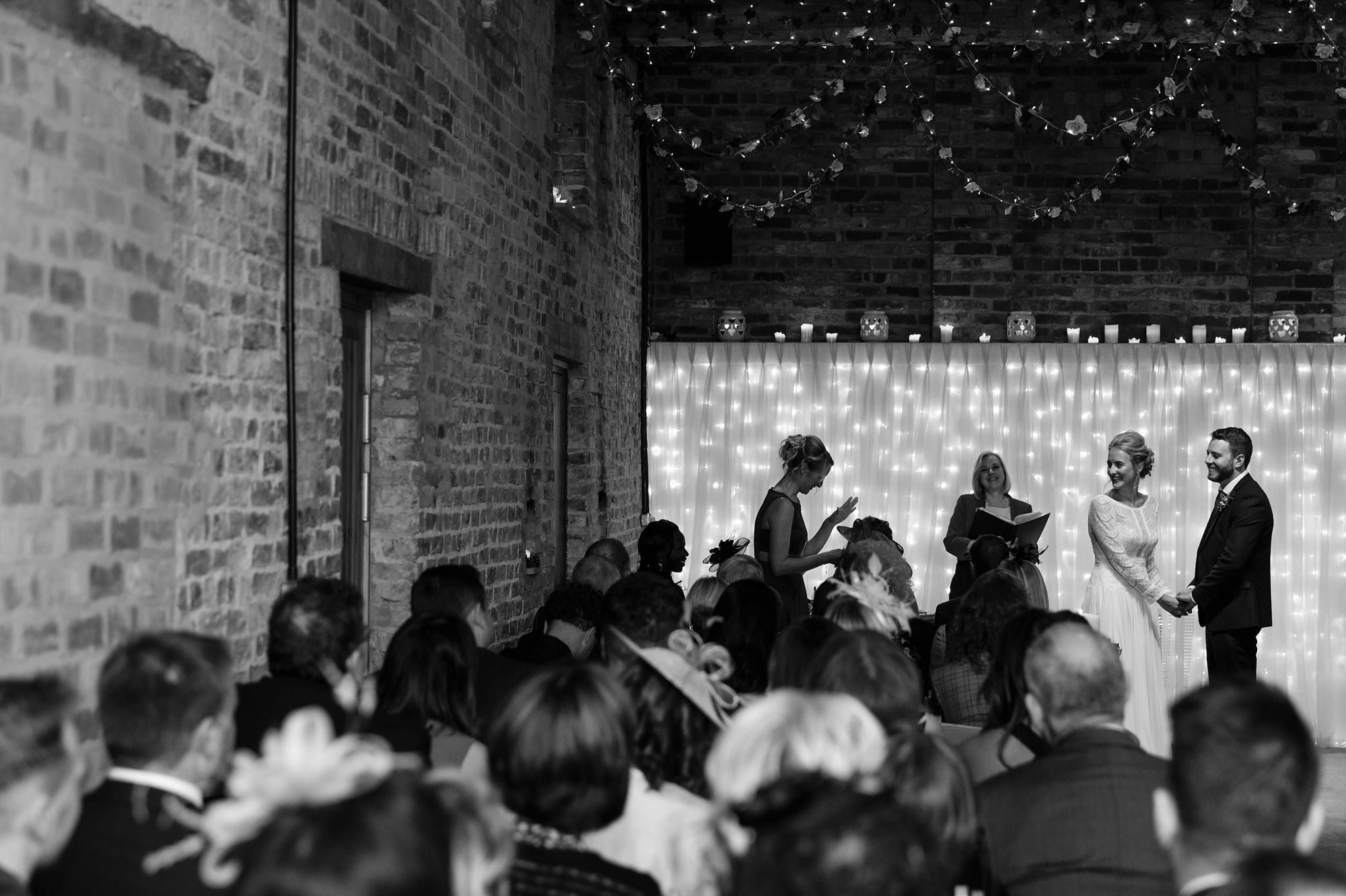 Sister gives wedding reading Yorkshire Wedding Photographers