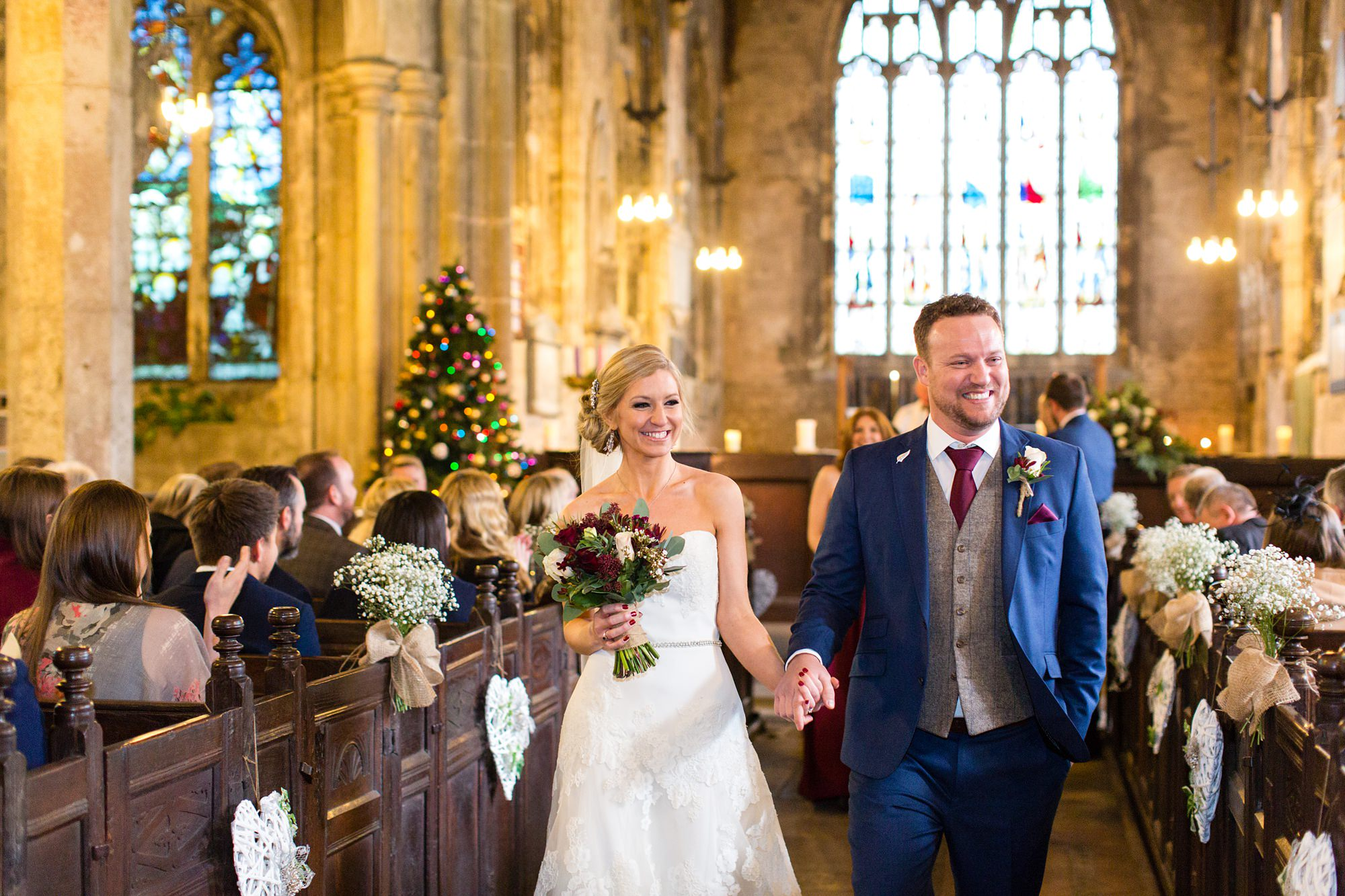 Winter Wedding in a church in York