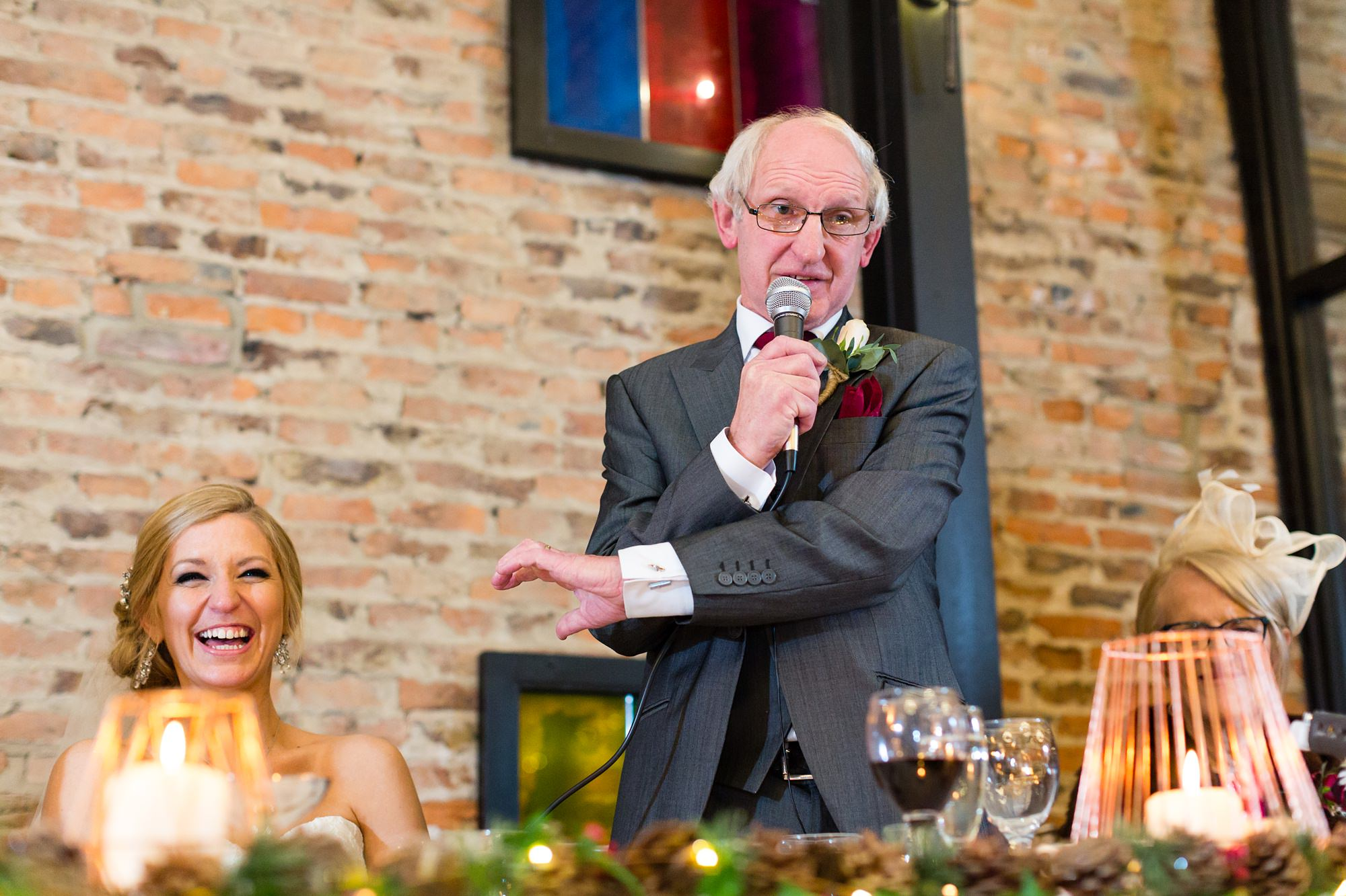 York Wedding Photography at Hornington Manor Farm father of the bride speech