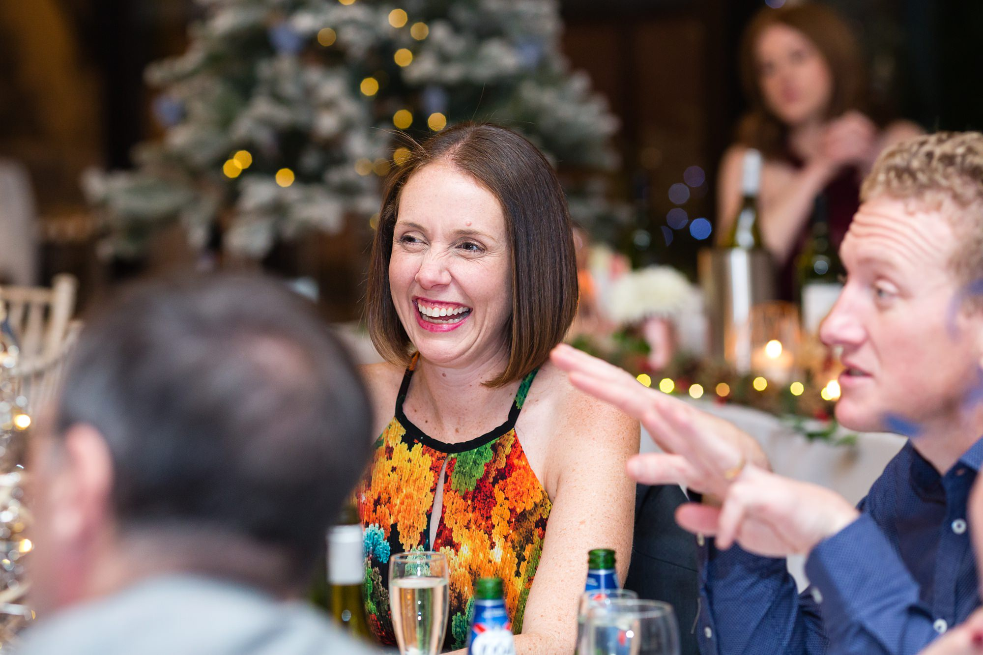 Guest Laughing during the speeches
