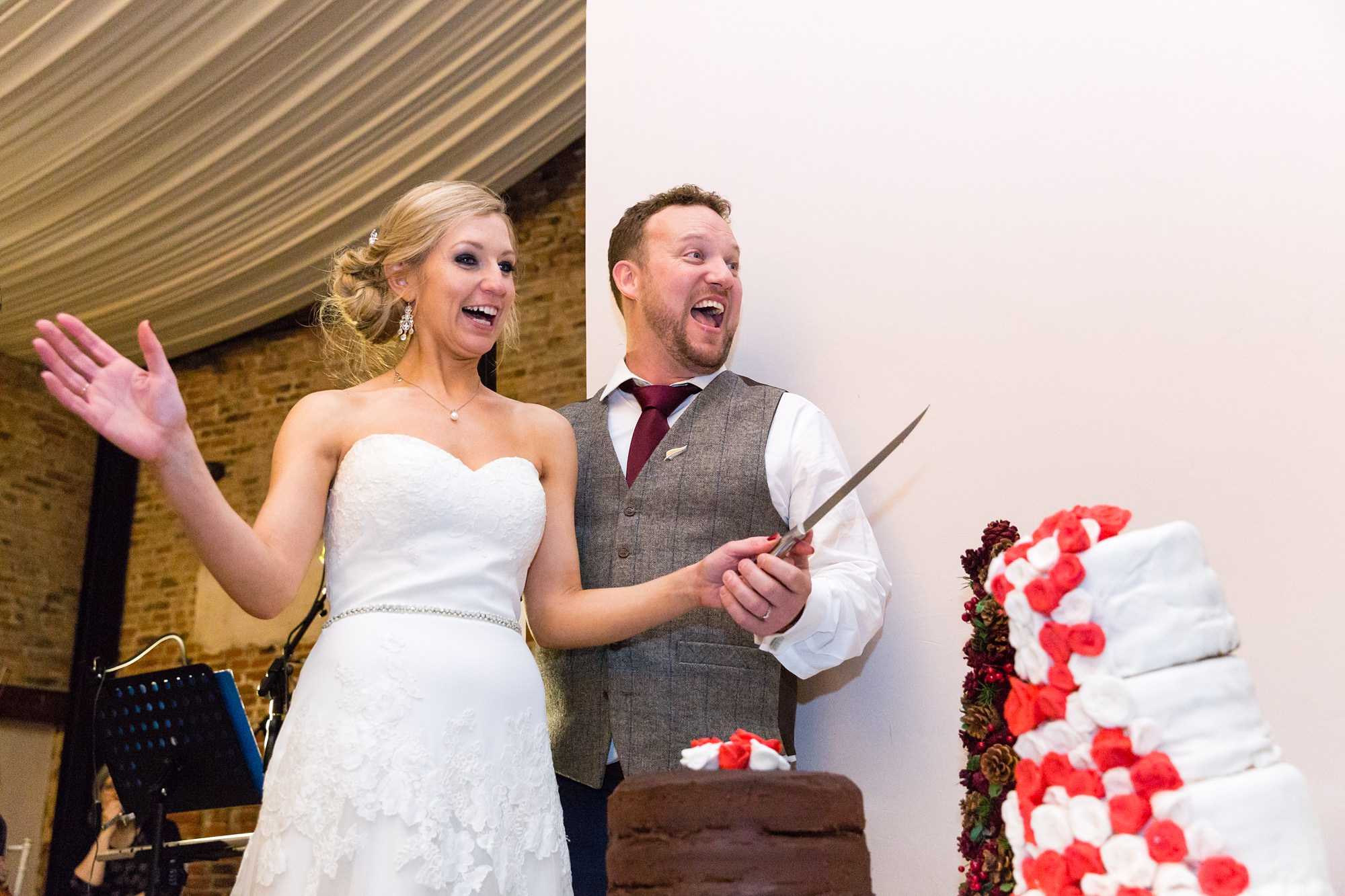 Funny Cake Cutting Photograph