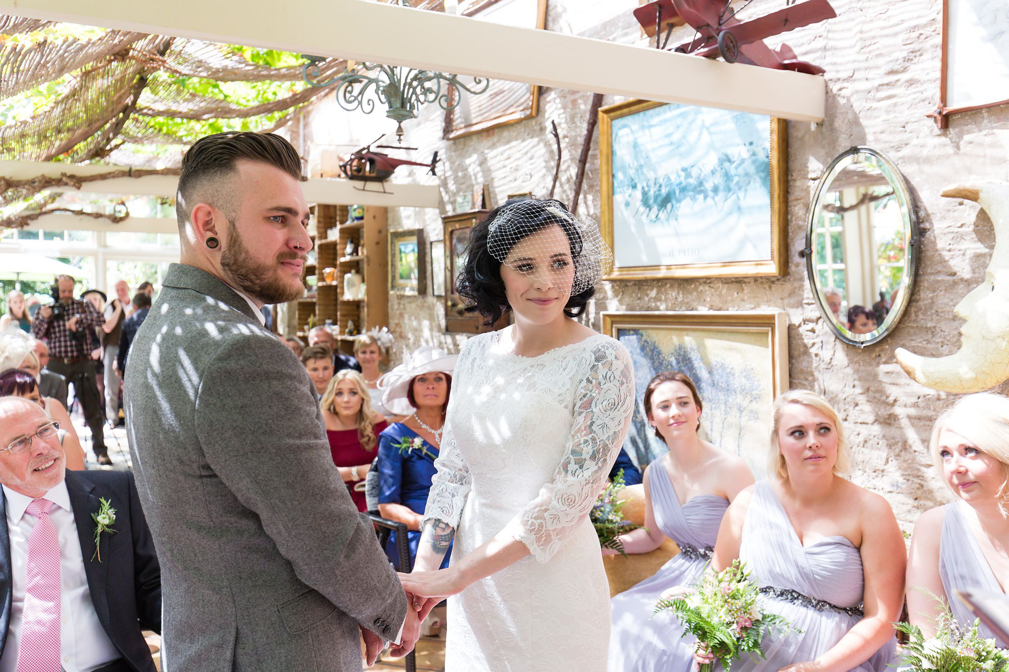 Yorkshire Wedding Photography at Crab and Lobster ceremony