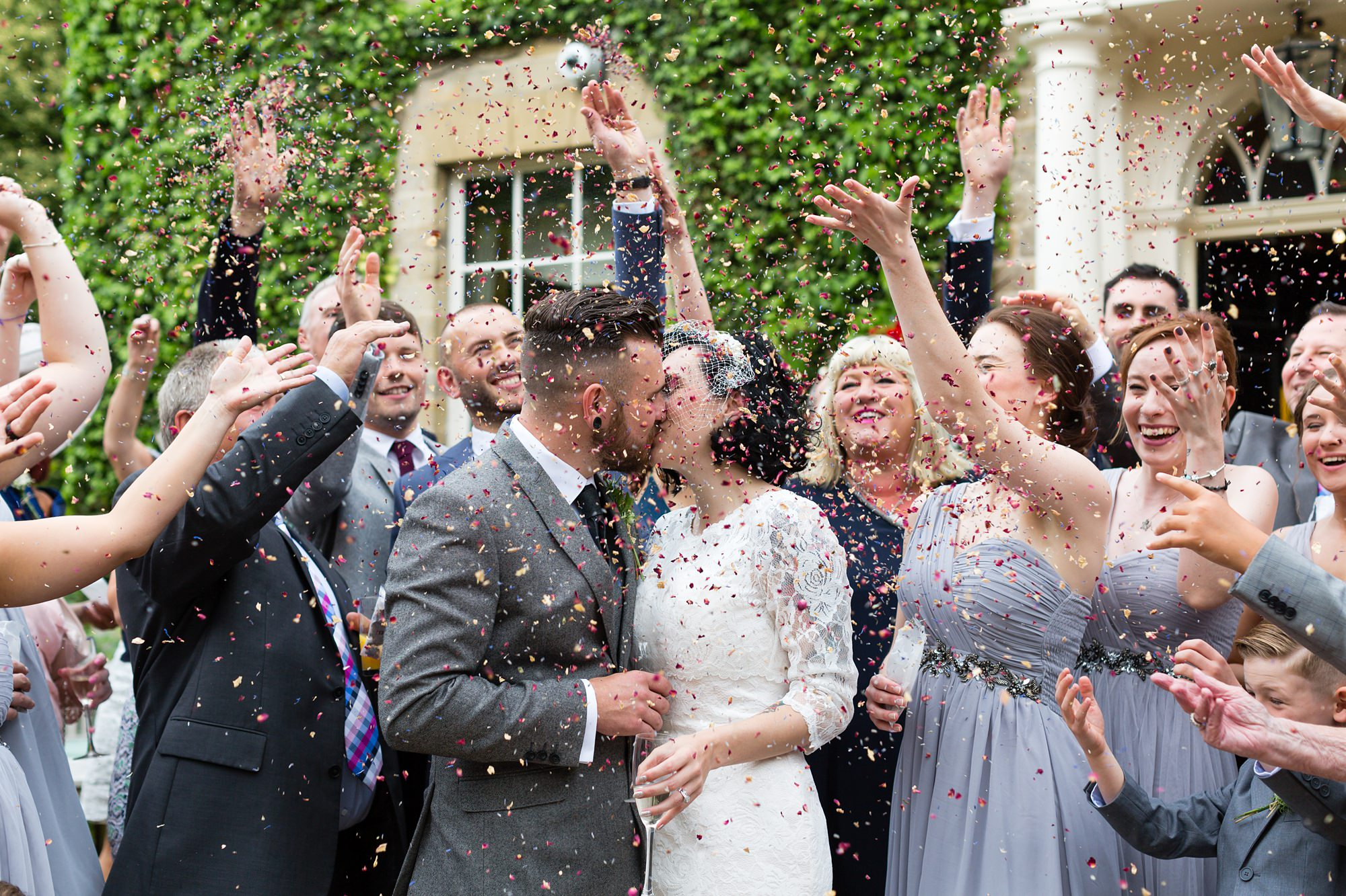 Yorkshire Wedding Photography at Crab and Lobster confetti