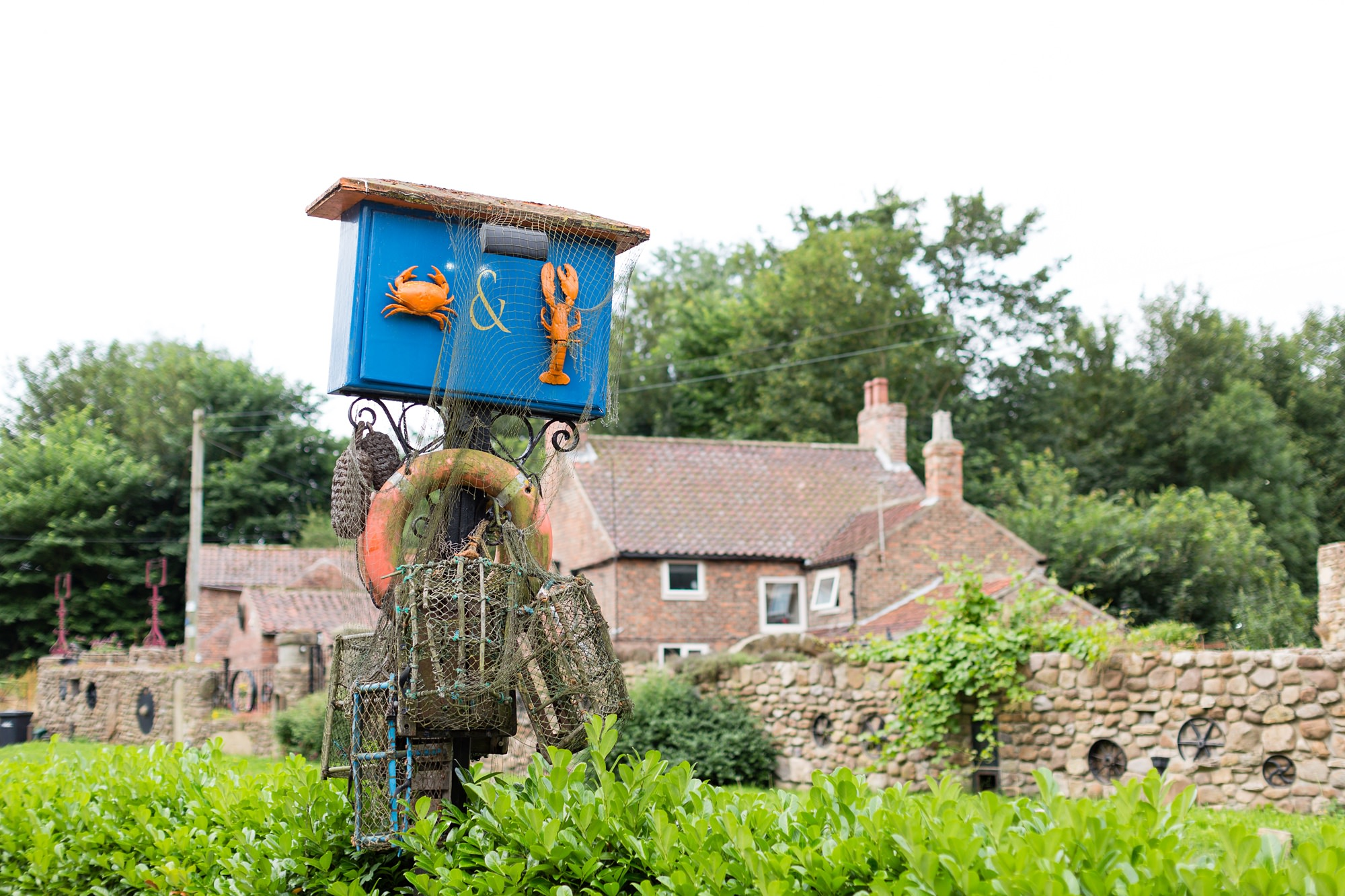 Yorkshire Wedding Photography at Crab and Lobster exterior shot with sign