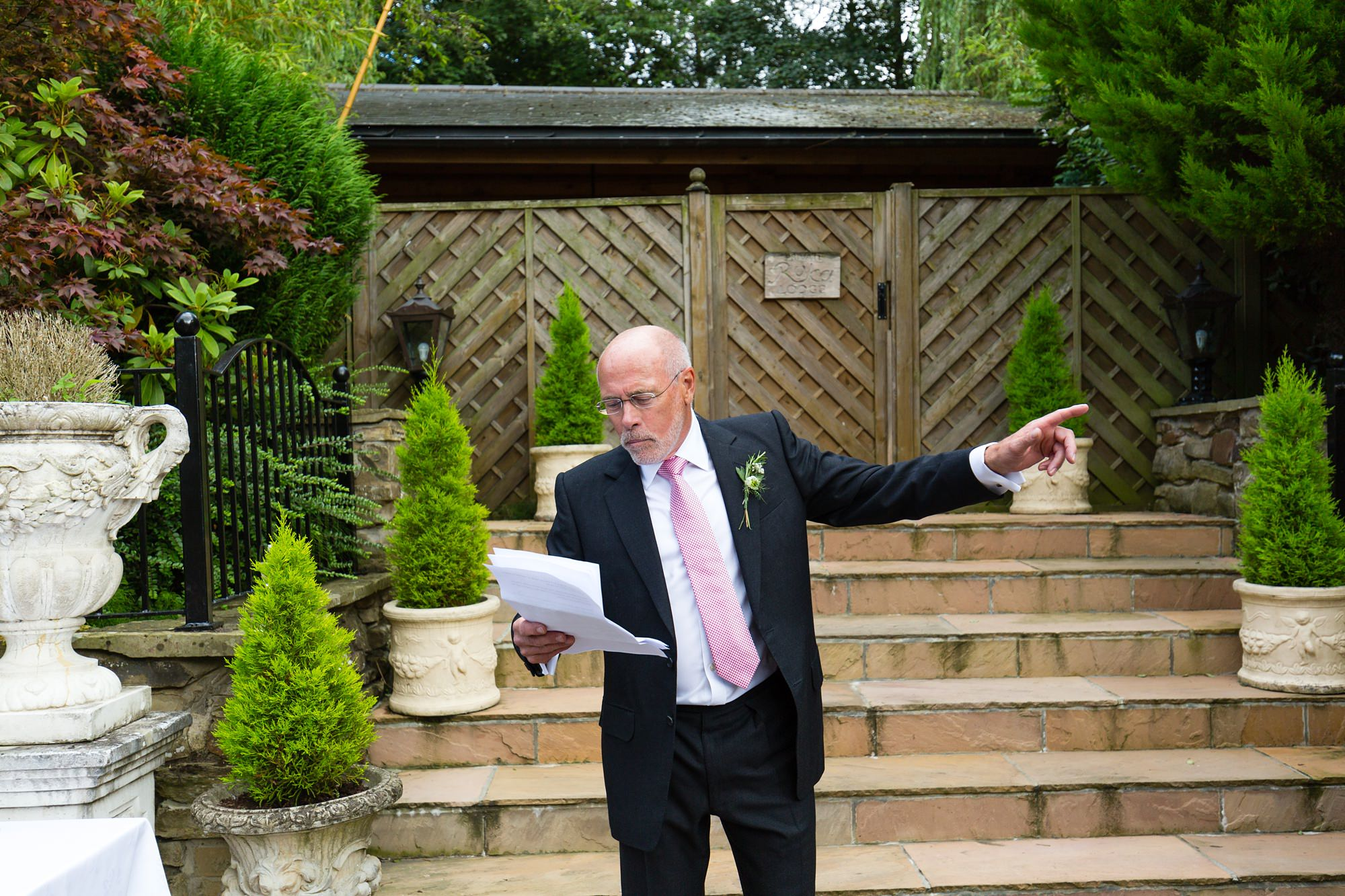 Father of the Bride speech Yorkshire Wedding Photography at Crab and Lobster